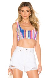 House Of Harlow X Revolve Yvonne Crop Top Blue