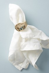 Anthropologie Forged Abalone Napkin Ring Gold