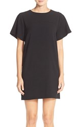 Petite Women's Felicity And Coco Flare Sleeve Crepe Shift Dress Black