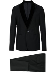 Emporio Armani Two Piece Dinner Suit Mohair Virgin Wool Black