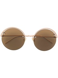Boucheron Round Frame Sunglasses Metallic