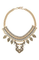 Junior Women's Leith Metal Statement Necklace Gold