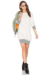 Monrow Double Layer Sweater Dress Beige