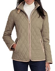 Lauren Ralph Lauren Petite Solid Diamond Quilted Jacket Green