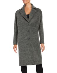 Jones New York Long Sleeve Textured Coat Grey