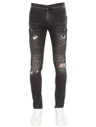 Balmain 17.5Cm Biker Destroyed Denim Jeans