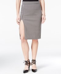 Xoxo Juniors' Front Slit Houndstooth Pencil Skirt Multi