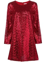 P.A.R.O.S.H. Sequined Mini Dress Red