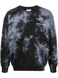 Nasaseasons Tie Dye Print Sweatshirt Black
