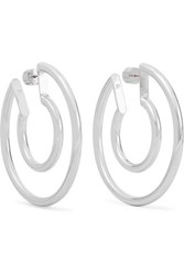 Jennifer Fisher Small Double Silver Plated Hoop Earrings One Size