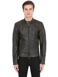 Belstaff Outlaw Waxed Leather Moto Jacket