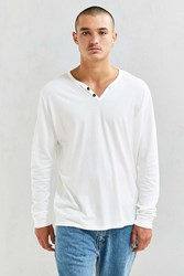 Katin Folk Henley Long Sleeve Tee White