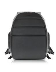 Giorgio Fedon 1919 Ninja Black Coated Jersey Backpack W 13 Laptop Compartment