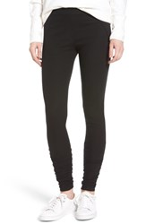 James Perse Women's Ruched Ankle Leggings Black
