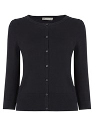 Oasis Three Quarter Sleeve Crew Neck Cardigan Black