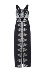 Temperley London Empire Embroidered Dress Black White