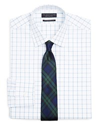 The Men's Store At Bloomingdale's Windowpane Check Regular Fit Dress Shirt