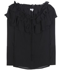 Opening Ceremony Mercer Silk Off The Shoulder Blouse Black