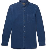 Rrl Slim Fit Button Down Collar Denim Shirt Indigo