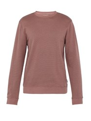 Oliver Spencer Robin Cotton Blend Sweatshirt Pink