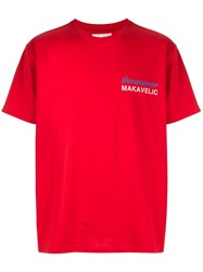 Makavelic Index Finger T Shirt Red