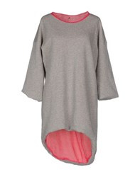 Soho De Luxe Topwear Sweatshirts Women Light Grey