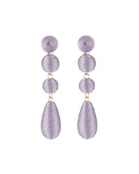 Lydell Nyc Wrapped Linear Earrings Purple