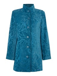 Tigi Tapestry Coat Peacock Blue