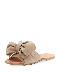 Brother Vellies Burkina Suede Bow Tie Sandal Taupe