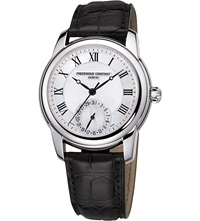 Frederique Constant Fc 710Mc4h6 Classic Stainless Steel And Leather Unisex Watch
