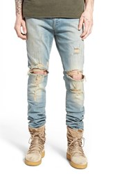 Represent Men's Destroyer Skinny Fit Jeans Blue Cream