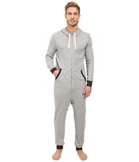 2Xist Terry Flight Suit Light Grey Heather Men's Jumpsuit And Rompers One Piece Gray