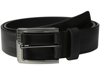 Stacy Adams 38Mm Full Gain Leather With Herringbone Design Black Men's Belts