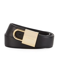 Buscemi Leather Lock Belt Black