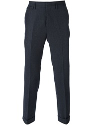 Mauro Grifoni Micro Check Print Trousers Grey