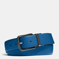 Coach Wide Cut To Size Reversible Leather Belt Denim Midnight
