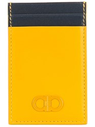 Salvatore Ferragamo Double Gancio Standing Cardholder Yellow Orange