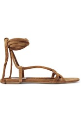 Gabriela Hearst Reeves Suede And Croc Effect Leather Sandals It36