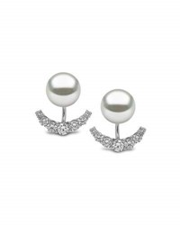 Yoko London South Sea Pearl And Diamond Jacket Earrings