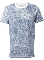 Kris Van Assche Denim Effect Print T Shirt White