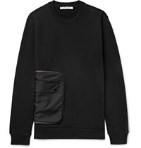 Givenchy Cuban Fit Shell And Fleece Back Cotton Jersey Sweatshirt Black