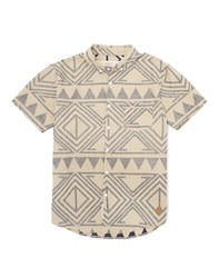 The Native Youth Shirt With Aztec Print White