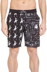 Billabong X Warhol Knives Lo Tides Board Shorts Black White