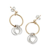 Alison Fern Jewellery Lucy Gold And Silver Circle Stud Earrings