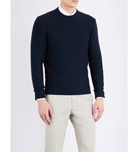 Gieves And Hawkes Crewneck Knitted Jumper Navy