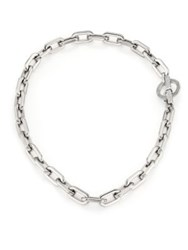 Michael Kors Cityscape Chain Pave Toggle Necklace Silver