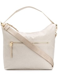 Borbonese Opla' Top Handle Bag Neutrals