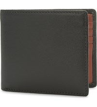 Launer Calf Leather Billfold Wallet Black Marmalade