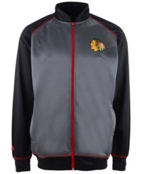 Majestic Men's Chicago Blackhawks Wow Track Jacket Charcoal Black