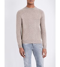 A.P.C. Ringo Wool And Cashmere Blend Jumper Beige